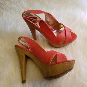 Charlotte Russe Shoes - Charlotte Russe Melon Platform Sandals